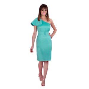 Vestido corto de cóctel verde