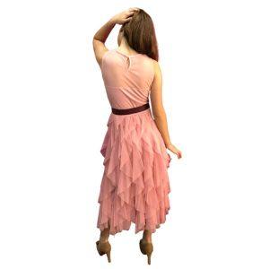 Trasera vestido de cóctel volantes en Pretty Woman Style