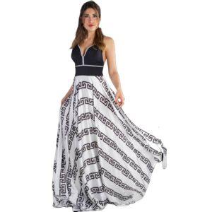 Vestido largo de fiesta estampado para eventos