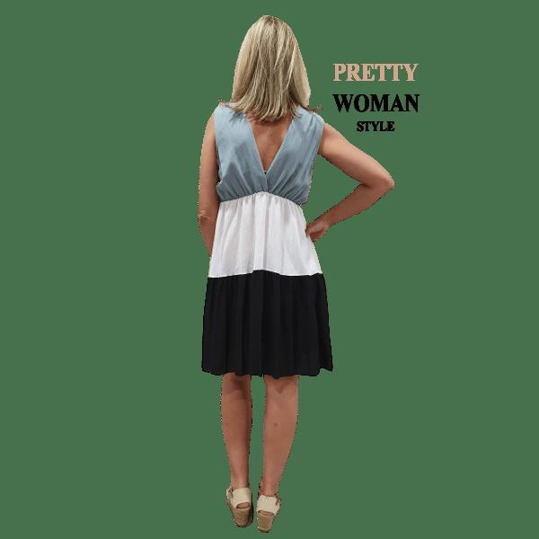 vestido-corto-casual-tricolor