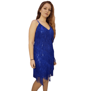 vestido-de-coctel-con flecos