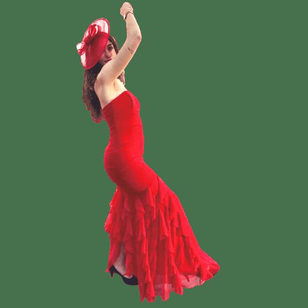 vestido-de-sirena-con-volantes