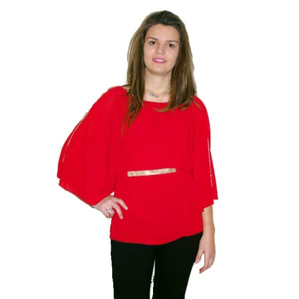 Blusa mariposa roja
