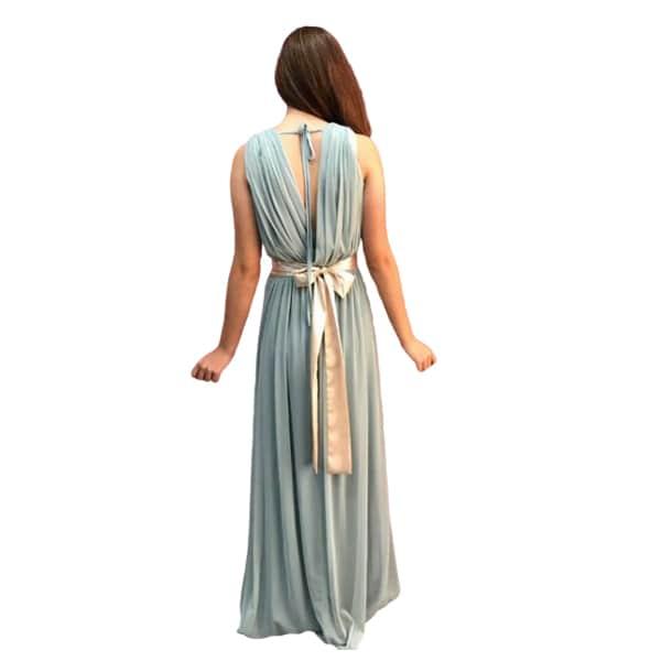 Trasera vestido de fiesta estilo griegotul