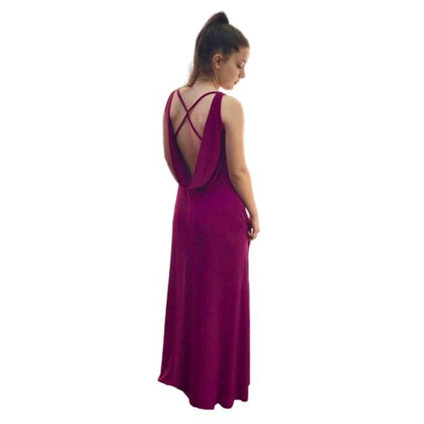 Trasera vestido de fiesta largo bungambilla
