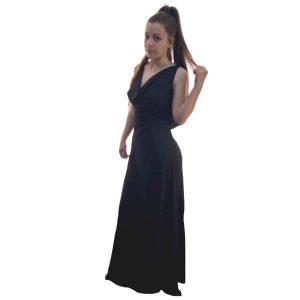 Vestido largo negro invitada de boda