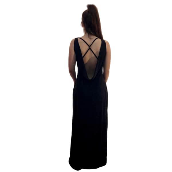 Trasera vestido largo negro