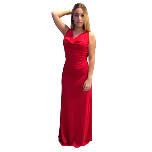 Vestido largo rojo invitada perfecta