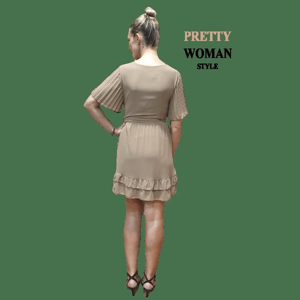 vestido-casual-con-mangas-plisadas