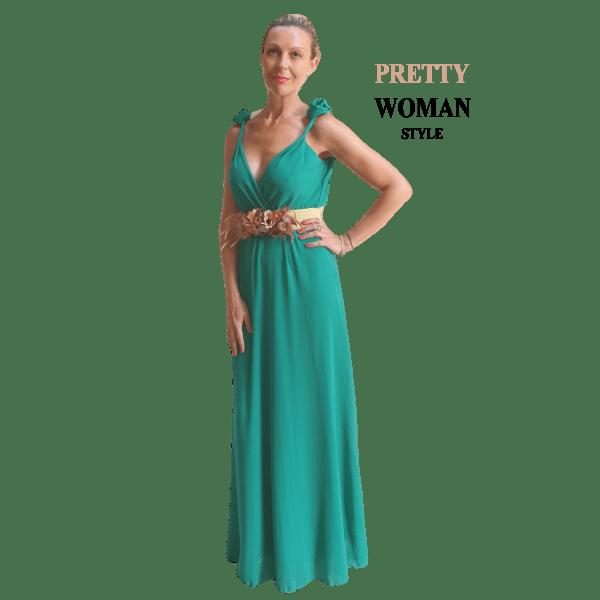 vestido-largo-verde-con-flor-en-los-tirantes