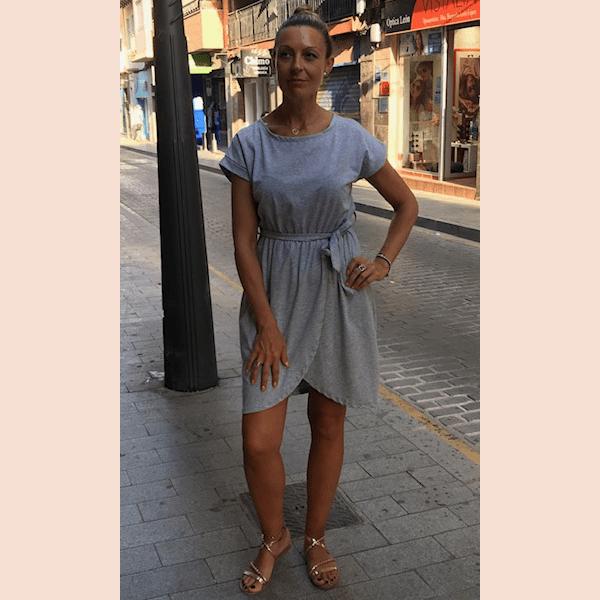 vestido-casual-de-color-gris