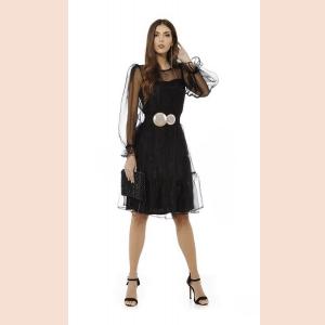 vestido-de-coctel-con-mangas-farol