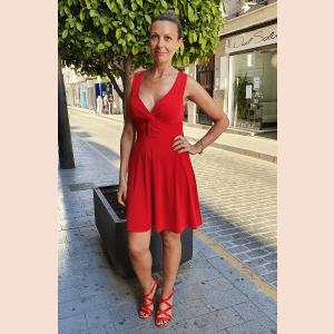 vestido-corto-casual-rojo