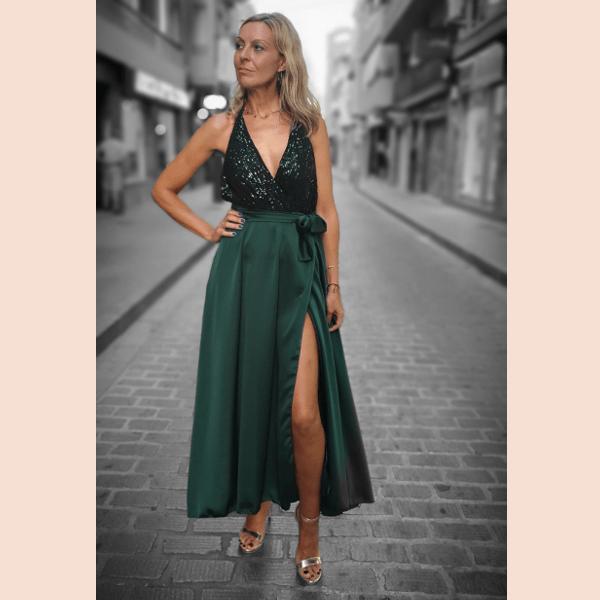 vestido-largo-con-cuerpo-de-lentejuelas-verde
