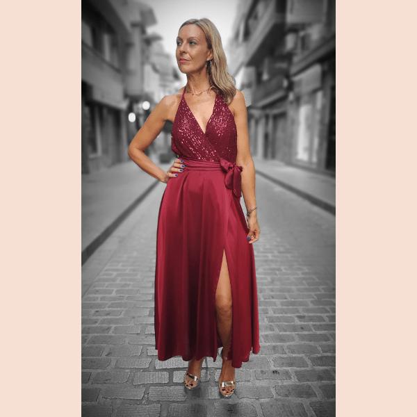 vestido-largo-con-cuerpo-de-lentejuelas-vino