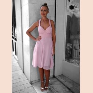 vestido-escote-v-rosa-palo