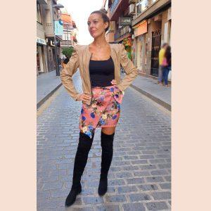falda-corta-estampada