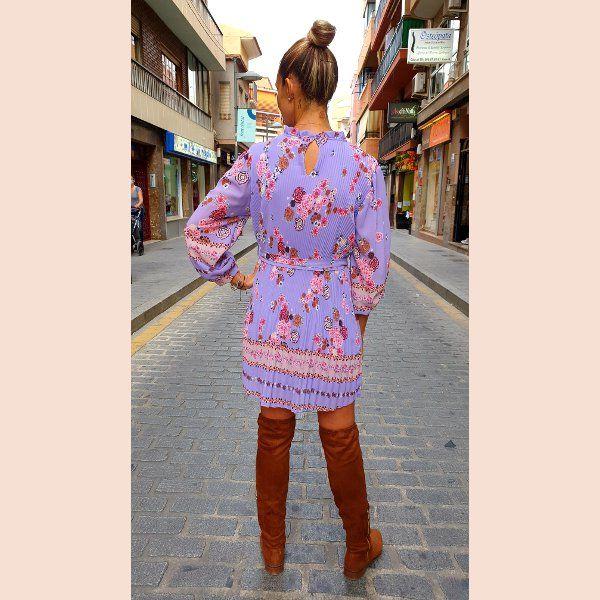 vestido-corto-casual-plisado