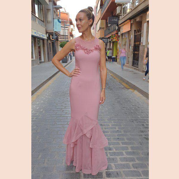 vestido-largo-de-fiesta-rosa-sirena