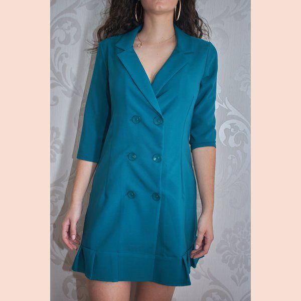 vestido-blazer-verde-petroleo-detalle-delantero