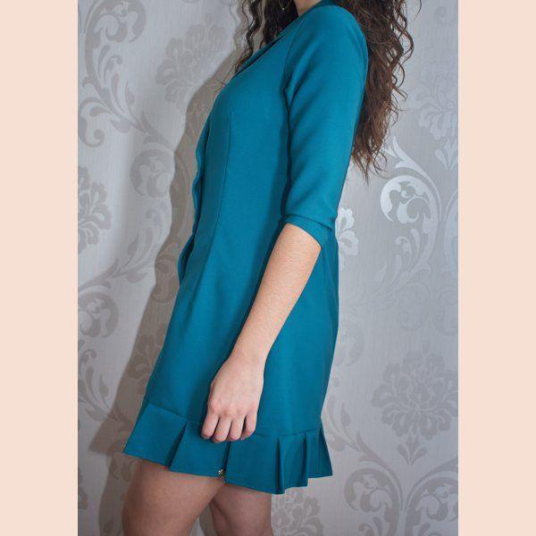 vestido-blazer-verde-petroleo-detalle-lateral
