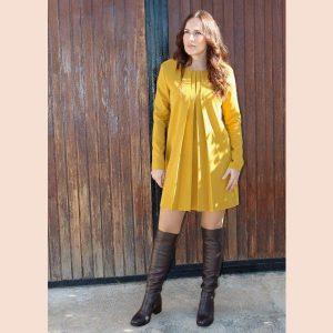 vestido-plisado-amarillo