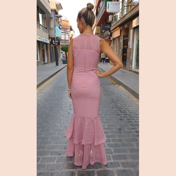 vestido-de-sirena-con-volante-semi-transparente-rosa-trasera