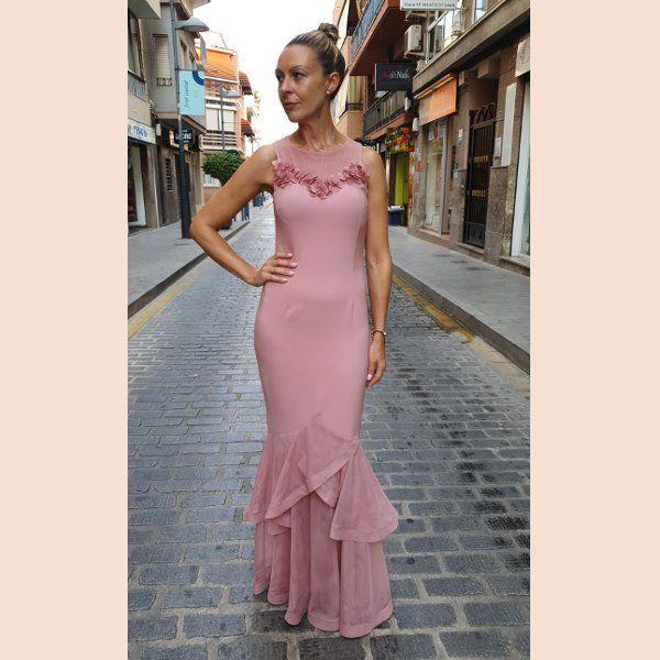 vestido-de-sirena-con-volante-semi-transparente-rosa