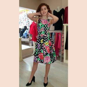 vestido-de-coctel-lady-de-flores-y-lunares