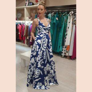 vestido-de-fiesta-largo-estampado-azul-y-blanco
