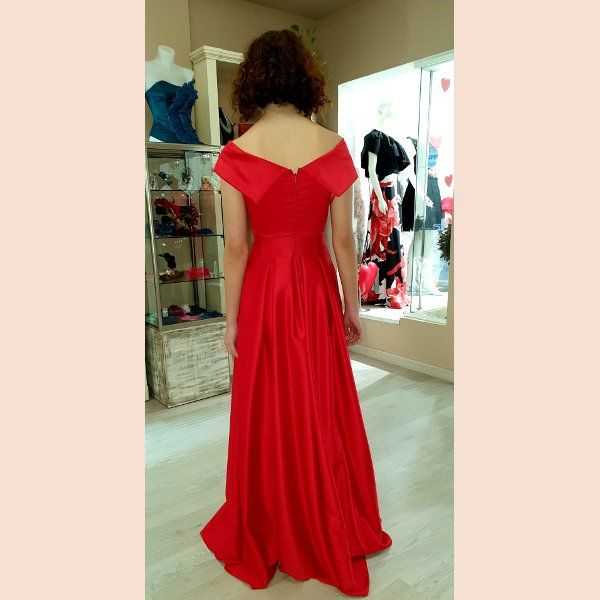 vestido-de-fiesta-largo-rojo-con-pecho-cruzado-trasera