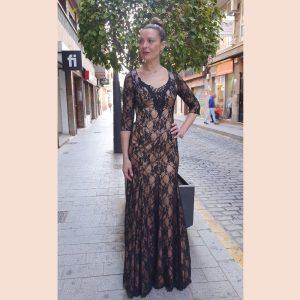 vestido-largo-de-fiesta-de-blonda-con-manga-francesa