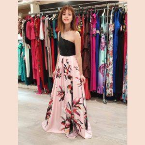 vestido-largo-de-fiesta-asimétrico-con-falda-rosa
