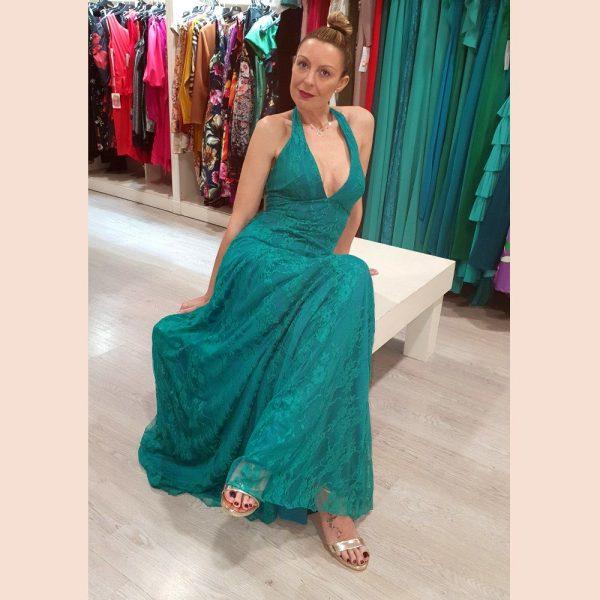 vestido-largo-de-fiesta-verde-de-blonda-detalle